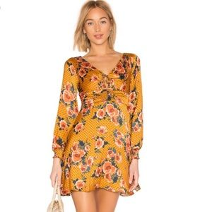 Free People long sleeve boho retro floral dress 8